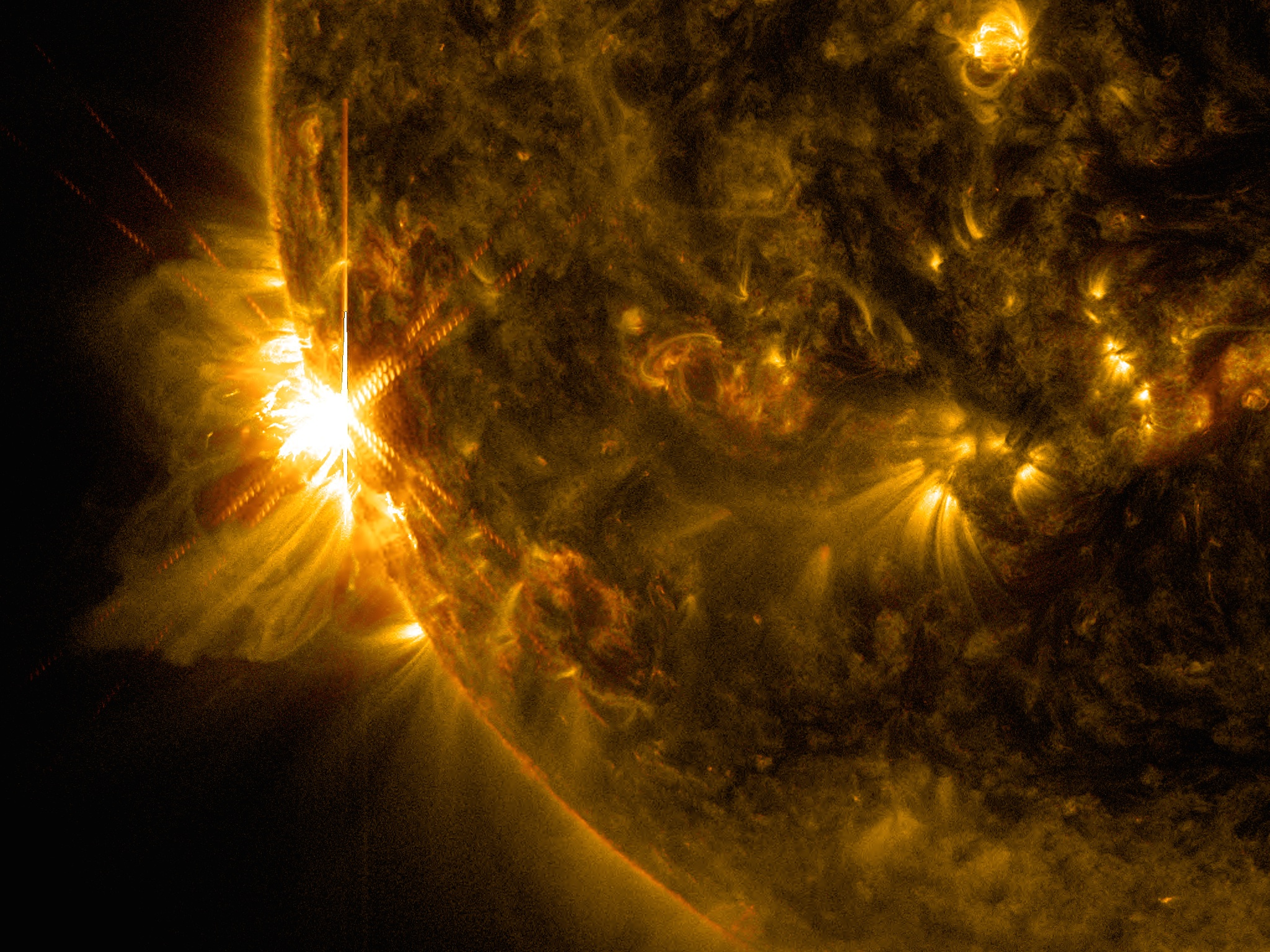 X2.2 Solar Flare of June 10, 2014: Wavelengths