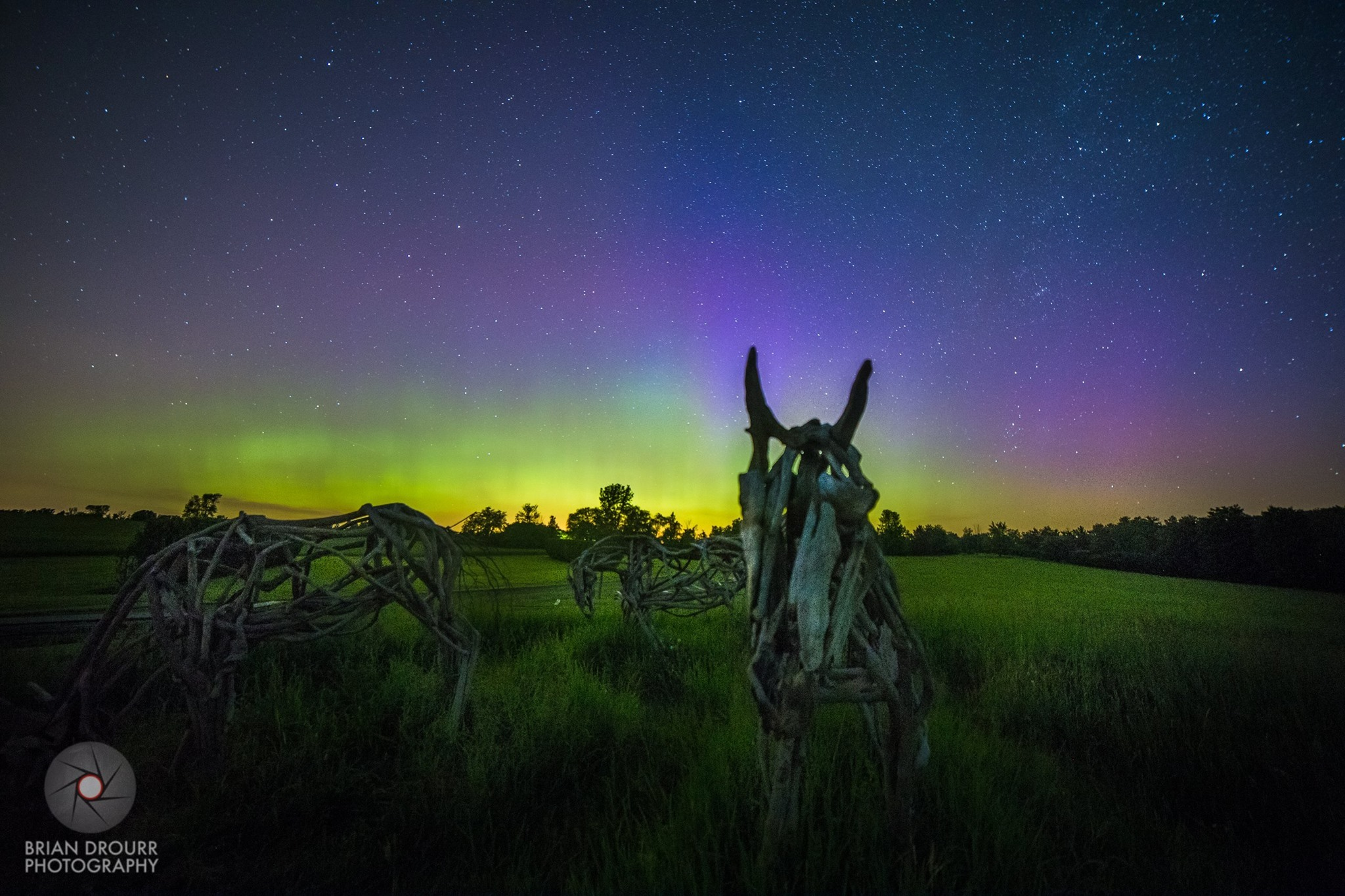 Springtime Auroras Dance in Vermont Night Sky (Photo)