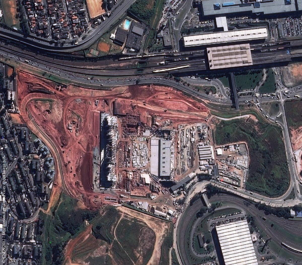 Arena Corinthians, São Paulo, Under Construction