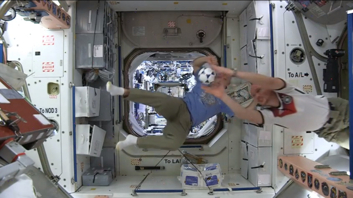 Astronauts Play 'Soccer' Aboard the International Space Station
