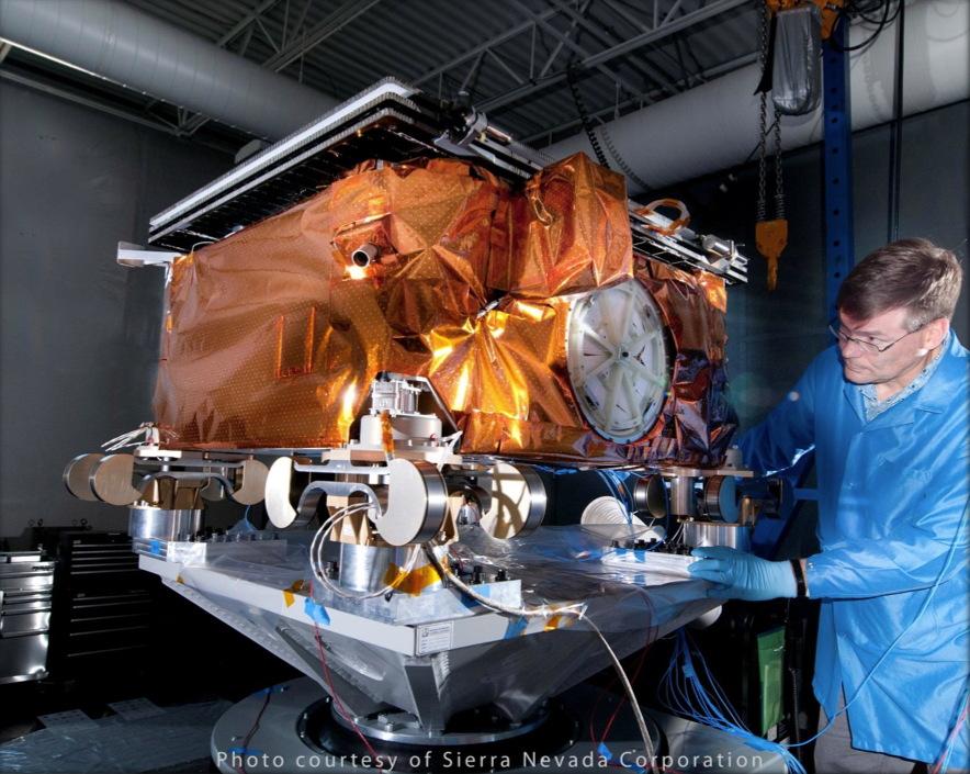 Technician Prepares ORBCOMM's OG2 Satellite