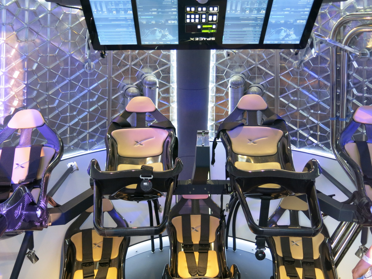 Interior of SpaceX's Manned Dragon Capsule