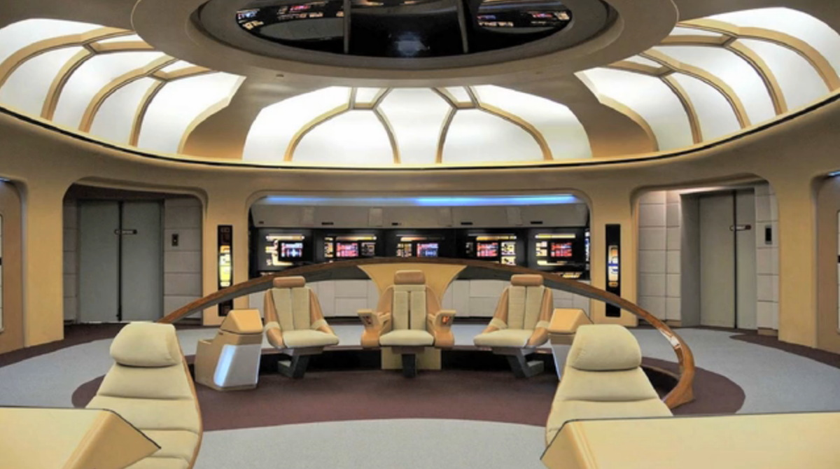 Display Version of Bridge Set from Star Trek: The Next Generation