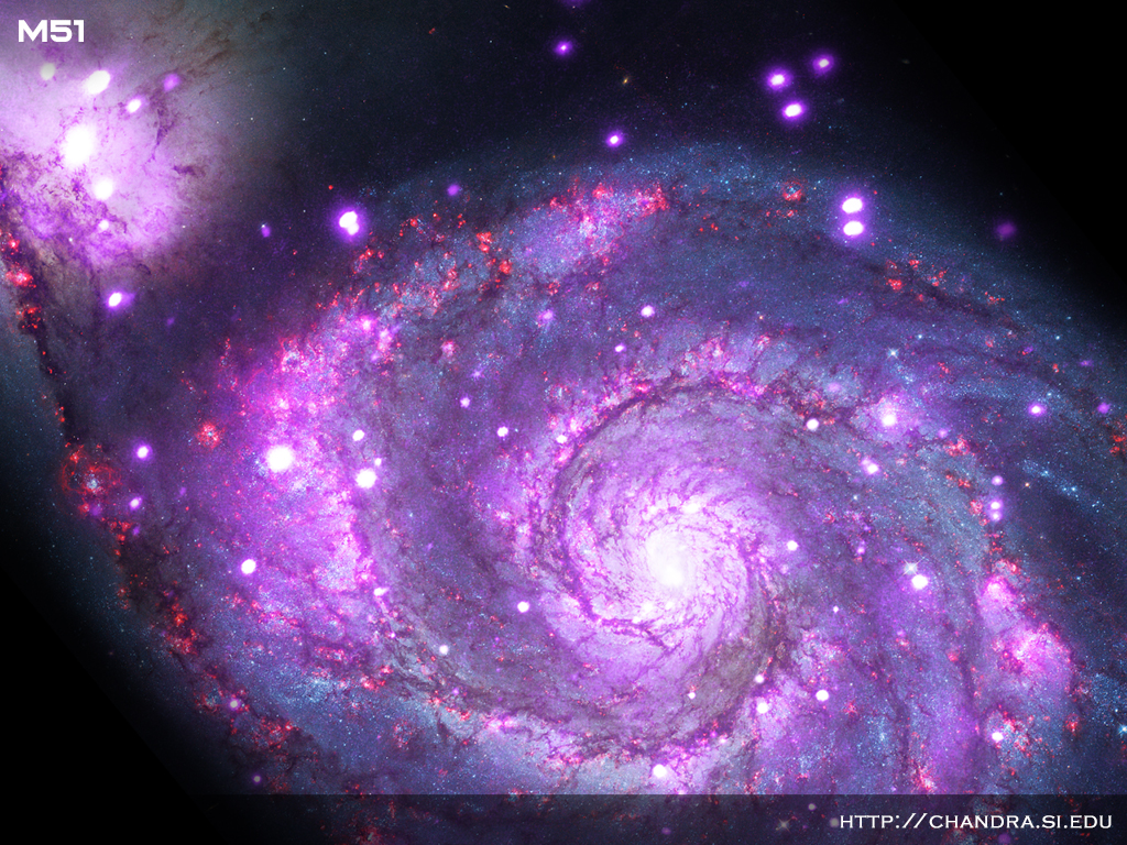 The Chandra X-ray telescope captured this stunning view of the Whirlpool Galaxy.