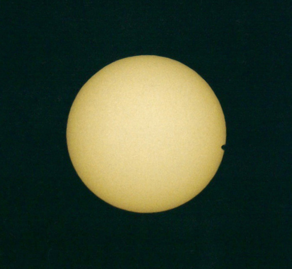 The June 8, 2004, Venus transit of the sun.