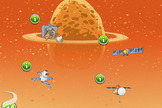 "Rovio's ""Beak Impact"" game highlights the NASA's Orion, Dawn, OSIRIS-REx and Deep Impact Missions. It represents the next installment of Angry Birds Space. Image released June 5, 2014."