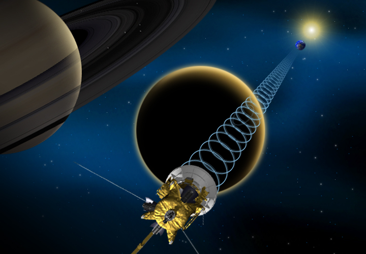 NASA Probe Flying by Huge Saturn Moon Titan Today