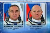 Spacewalking cosmonauts Alexander Skvortsov and Oleg Artemyev went outside the space station on June 19, 2014.