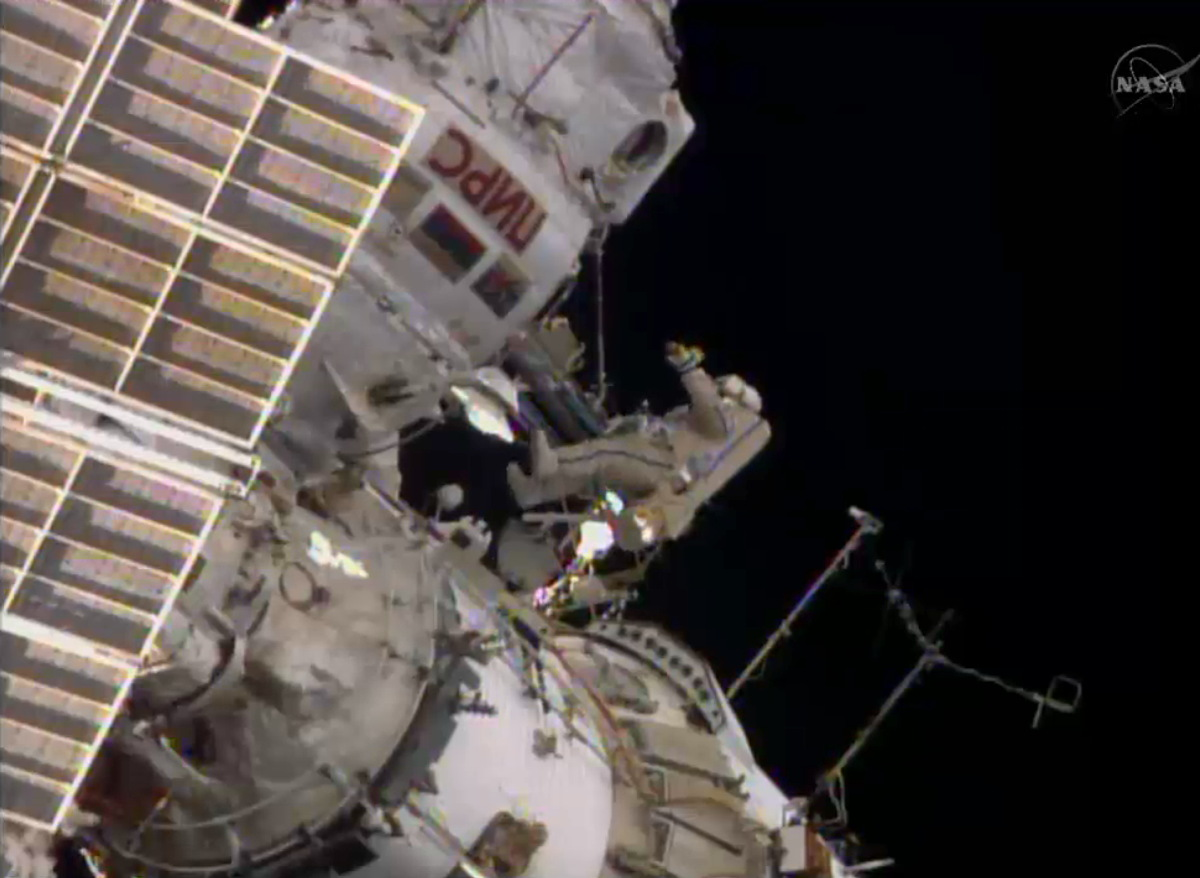 Russian Spacewalk on June 19, 2014