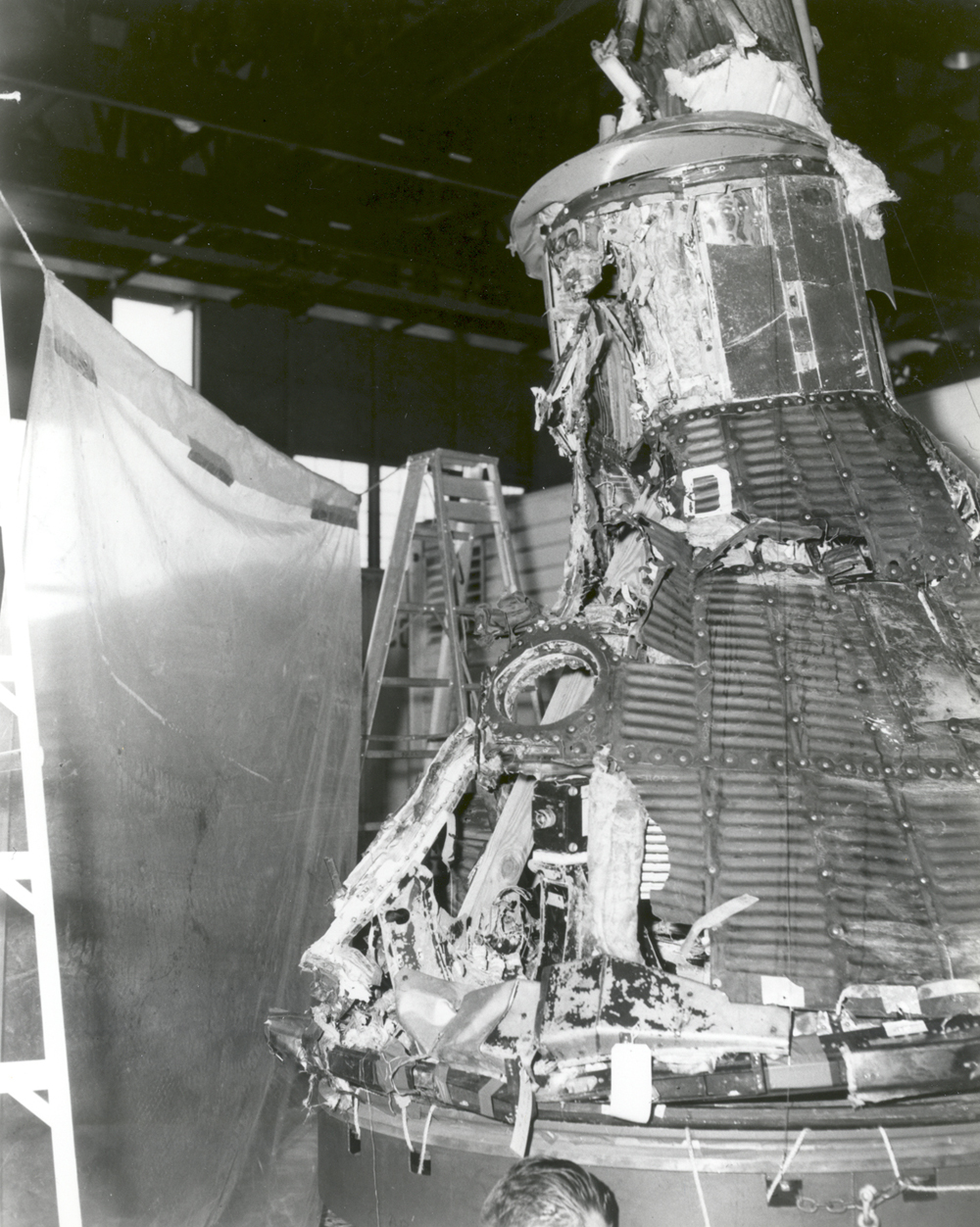 Space History Photo: MA-1 Capsule Reassembled After Explosion