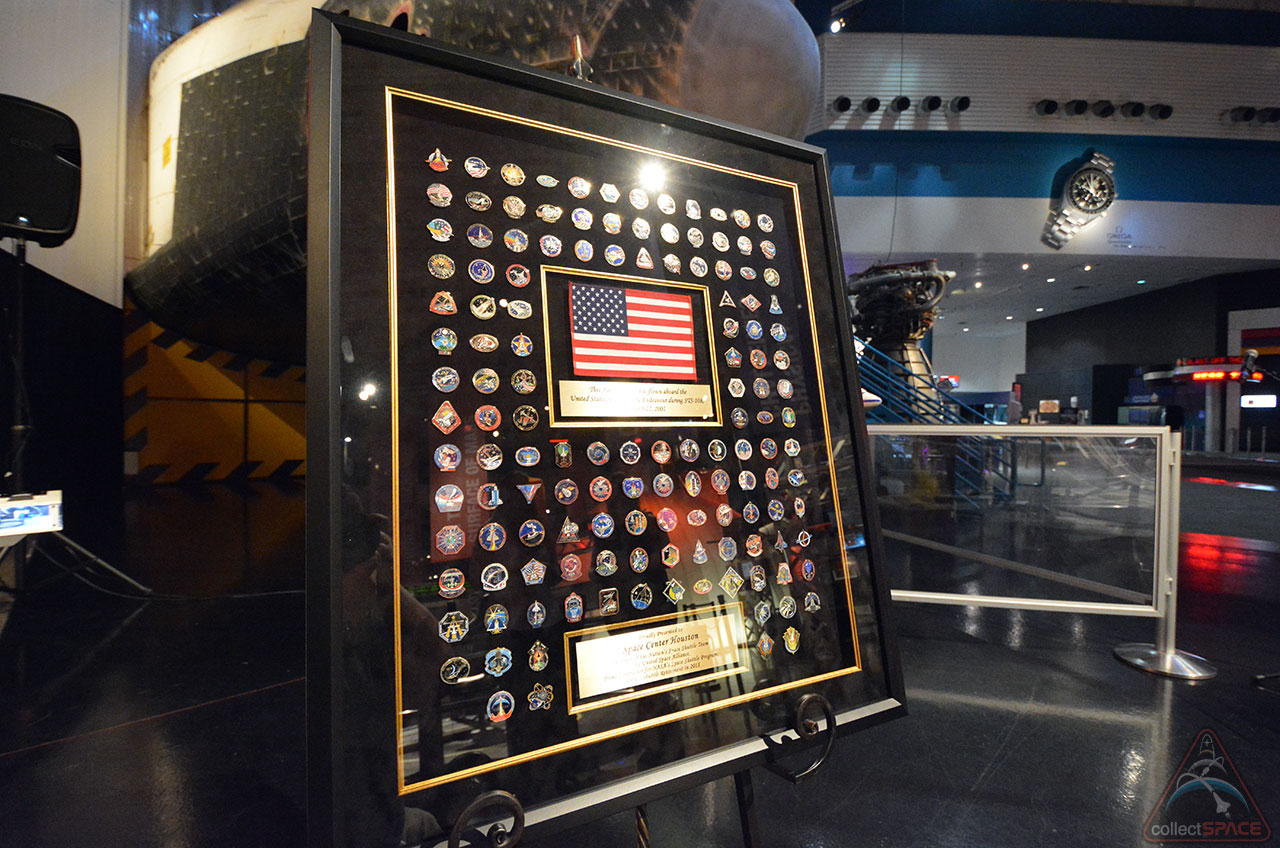 Shuttle Contractor's 'Soft Mark' on History: Pins Honor Space Shuttle Team