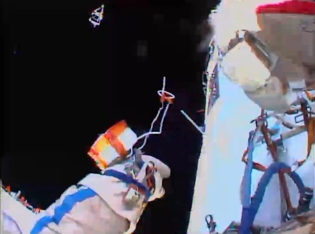 Spacewalking Cosmonauts Finish Hard Work Outside Space Station