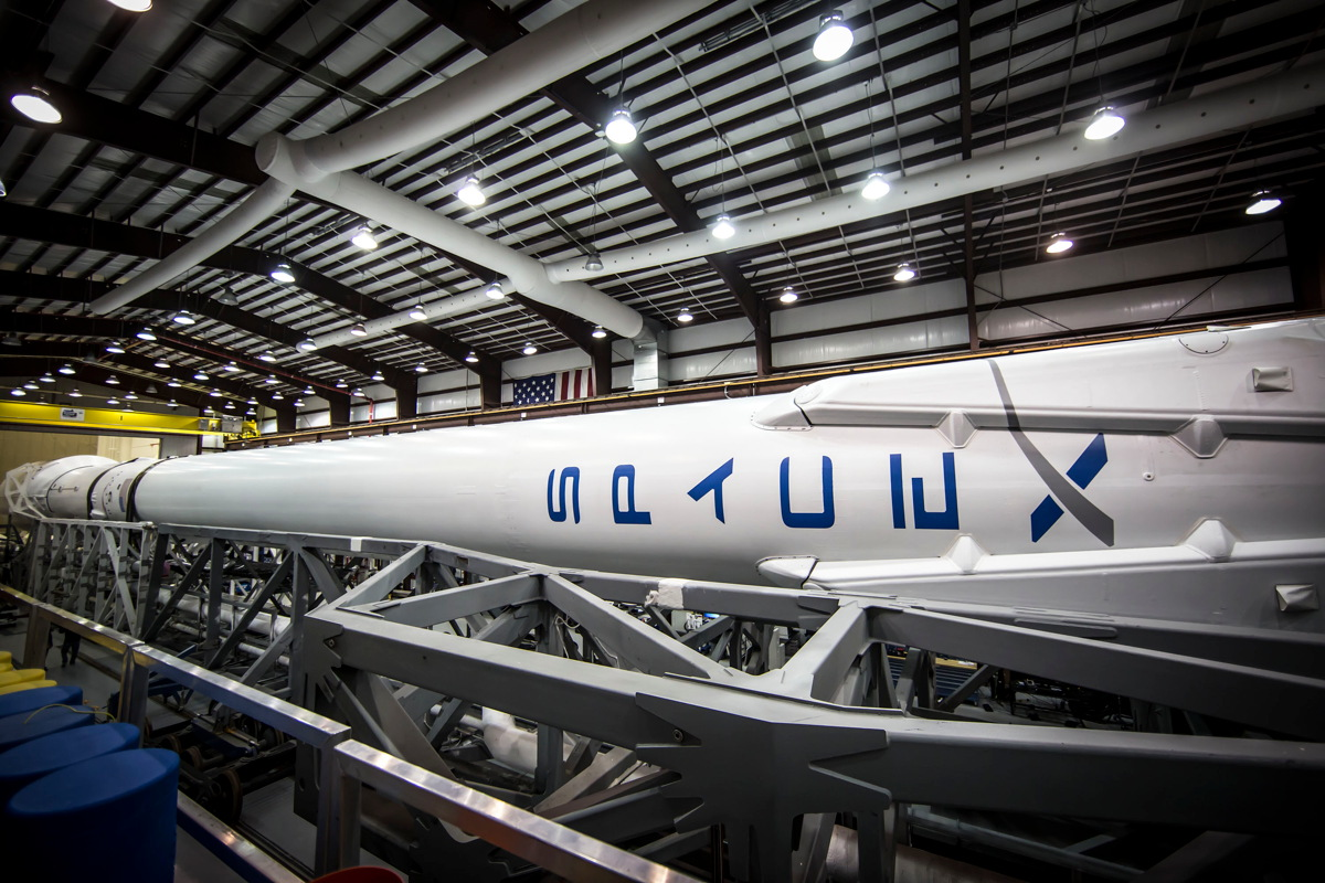 Falcon 9 in Hangar