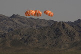 NASA successfully tested the complicated parachute system on the Orion spacecraft on June 25, 2014.