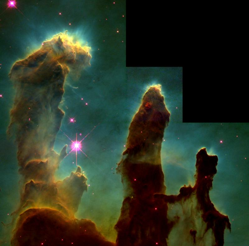 Hubble Telescope's 'Pillars of Creation' Remade in Computer Simulation