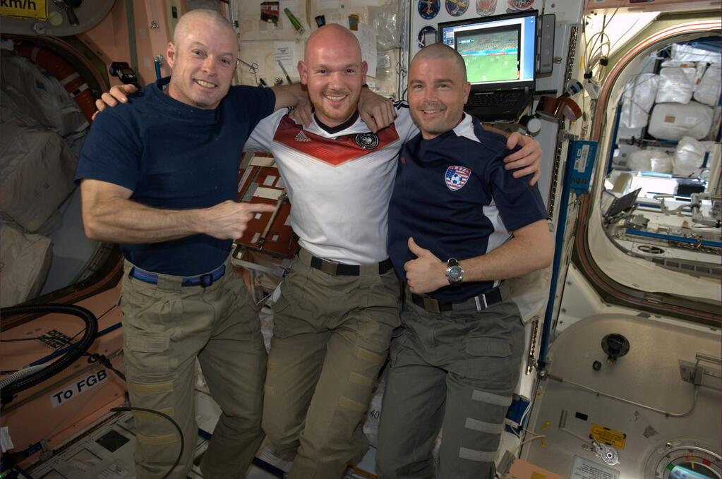 International Space Station World Cup Head Shave