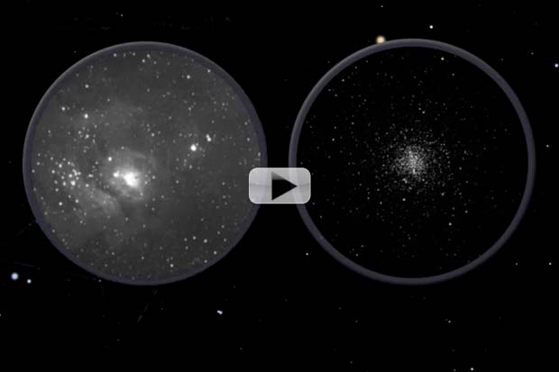 See Globular Clusters, Nebulas and a 'Teapot' In July 2014 Skywatching | Video