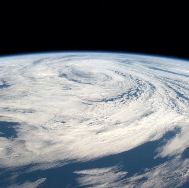 North Atlantic Storms from ISS