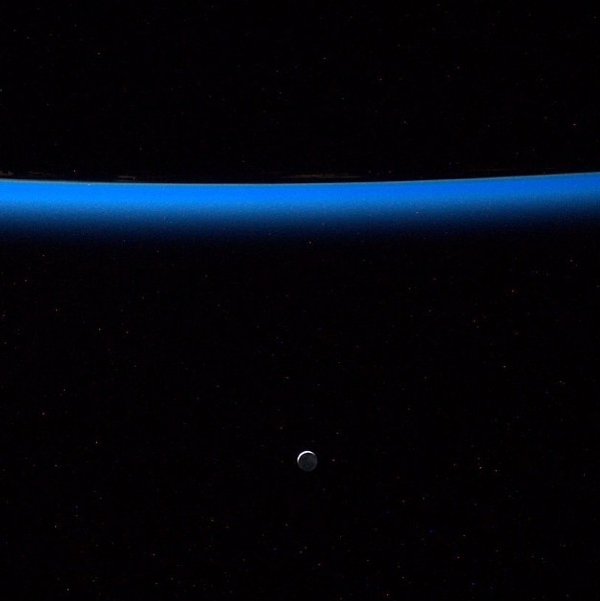 Glowing Moon from ISS