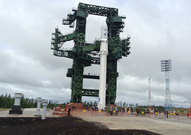 Russian Angara Rocket Atop Launch Pad
