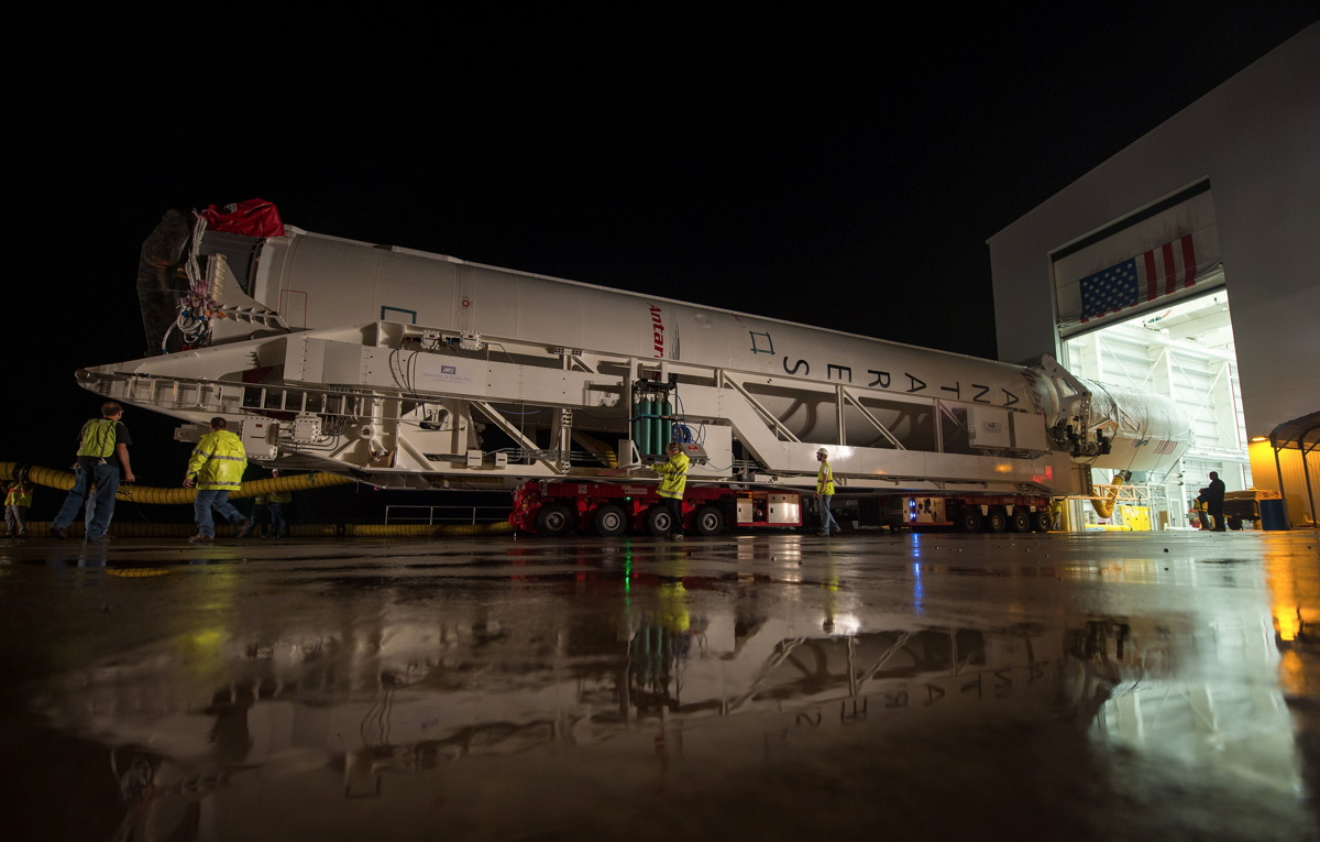 Antares Rocket Begins Rollout