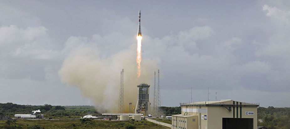 Soyuz Rocket Launches 4 Communications Satellites Into Space