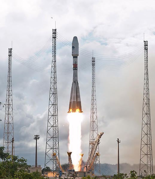 The second Arianespace Soyuz mission for O3b Networks launched four spacecraft on July 10, 2014, from French Guiana to complete the customer's basic satellite network.
