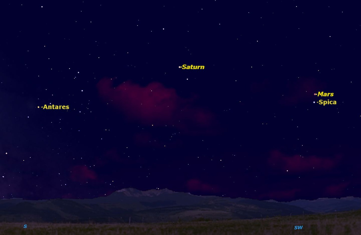 Weekend Stargazing: Mars, Mercury, and Spica (Oh My!)