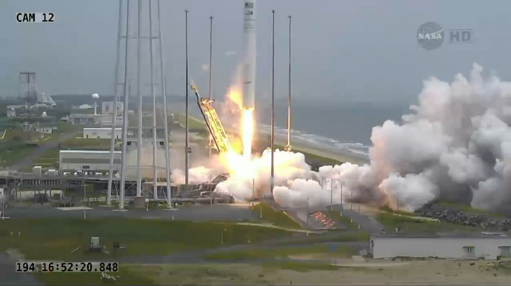 Antares Rocket Launches Orb-2 Cargo Mission