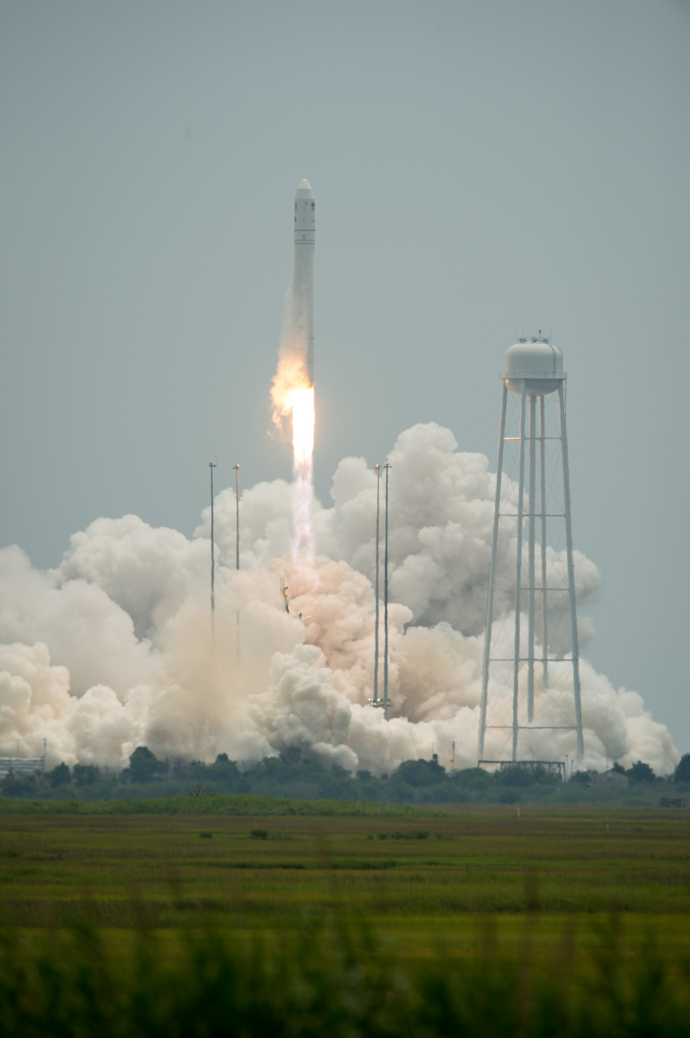 Liftoff for Antares Rocket and Cygnus Spacecraft