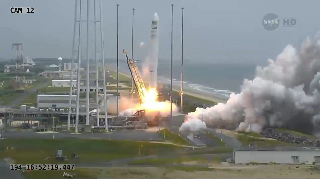 Liftoff! Antares Rocket and Cygnus Soar