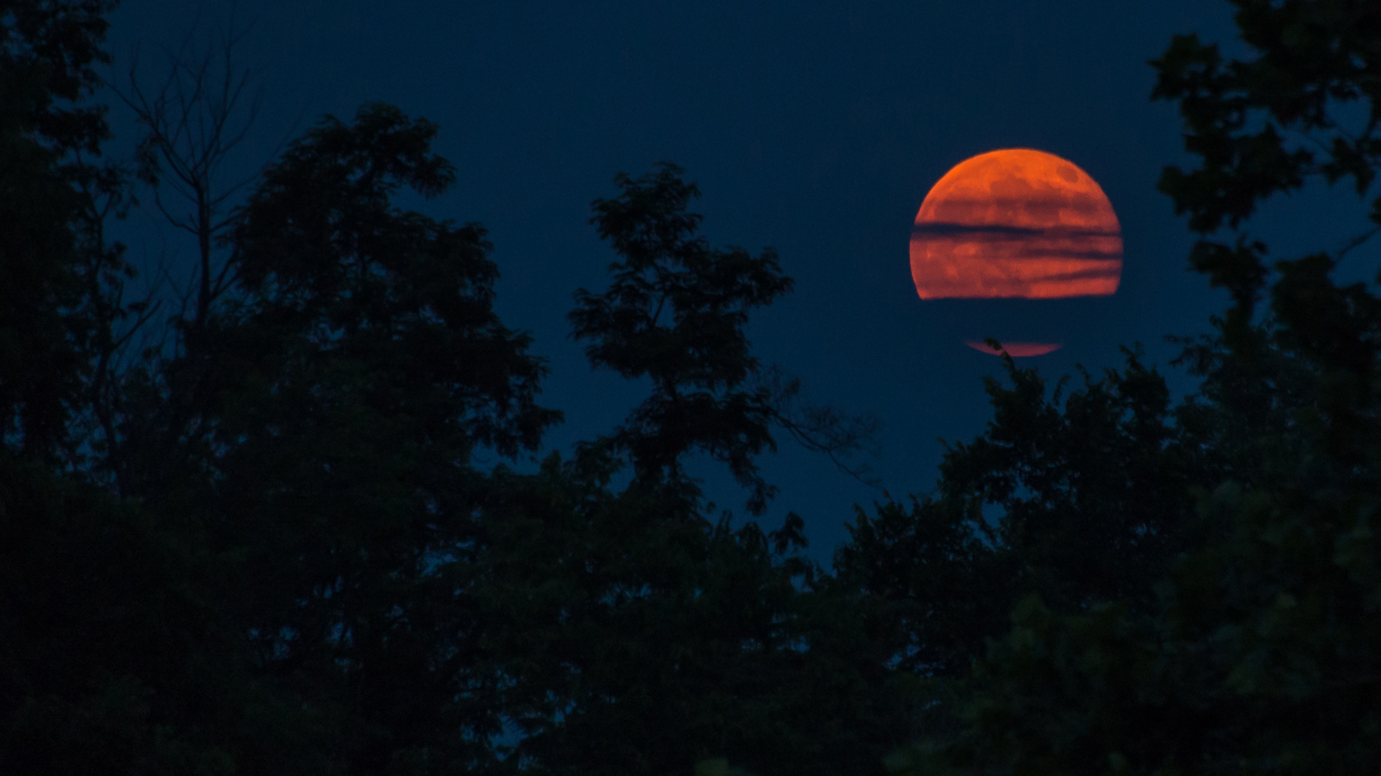 Supermoon Over Monacacy National Battlefield by Shenandoah Sanchez