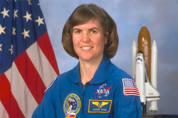 NASA portrait of Janice Voss, the namesake for Orbital's second contracted Cygnus space station resupply spacecraft.