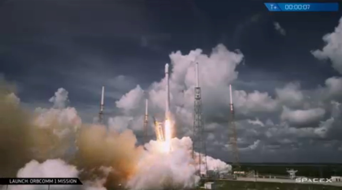 SpaceX Launches ORBCOMM Satellites