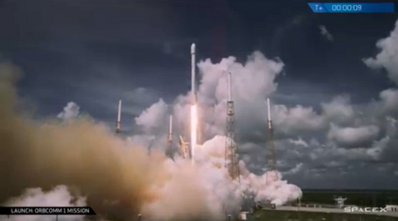 SpaceX's Falcon 9 rocket delivered 6 satellites in ORBCOMM's OG2 constellation to low-Earth orbit on July 14, 2014.