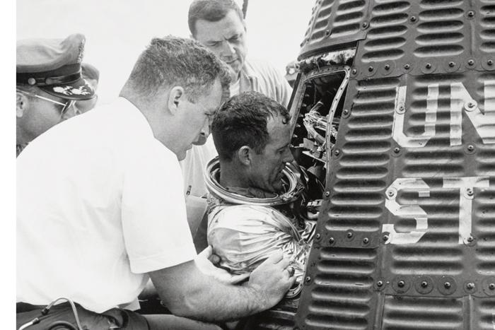 Space History Photo: Cooper Egressing 'Faith 7'