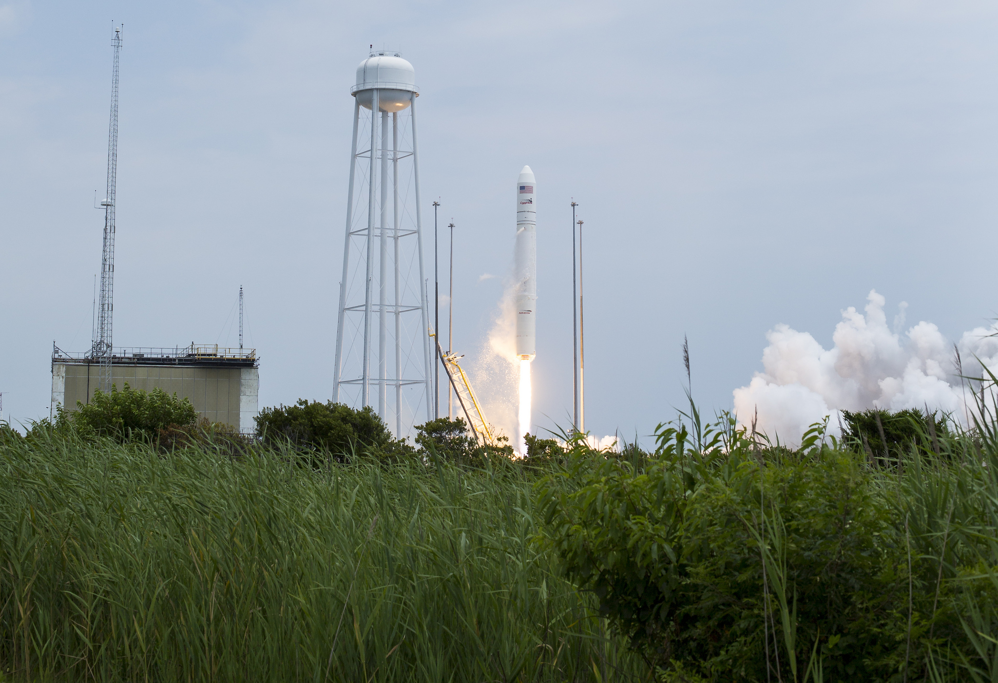 Antares Orbital-2 Mission Launch Wide