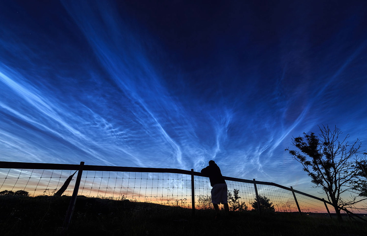 Noctilucent Clouds Over Sweden