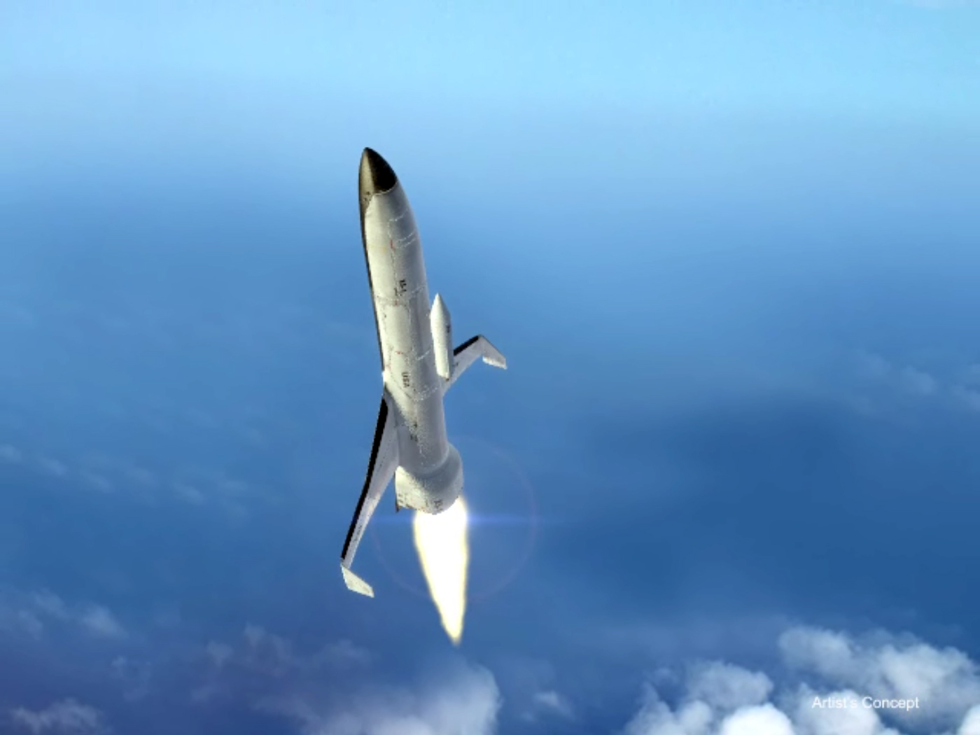 XS-1 Space Plane Ascent Illustration