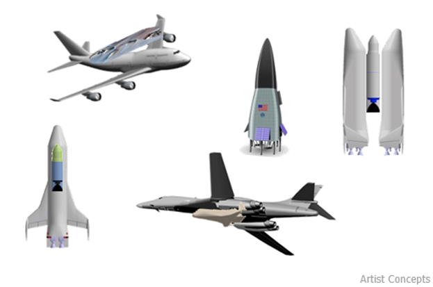DARPA XS-1 Space Plane Concepts