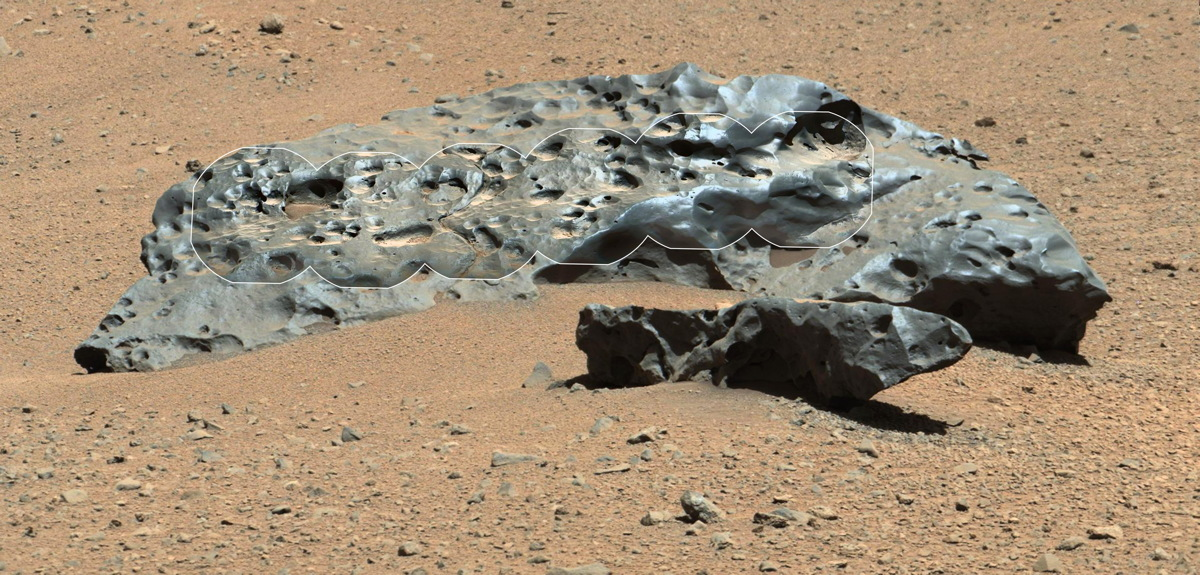 Huge Meteorite on Mars Discovered by NASA's Curiosity Rover
