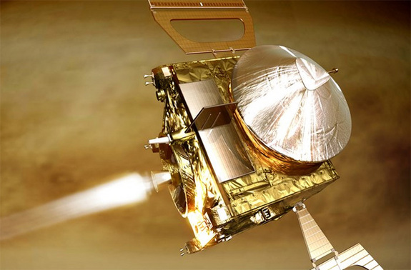 Artist's impression of ESA's Venus Express.