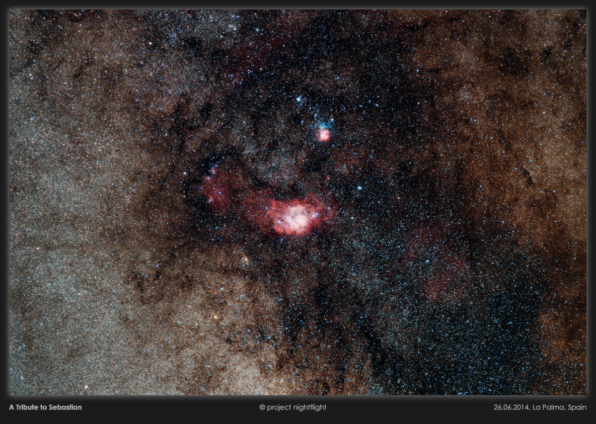 Lagoon Nebula Glows in Amazing Night Sky Photo