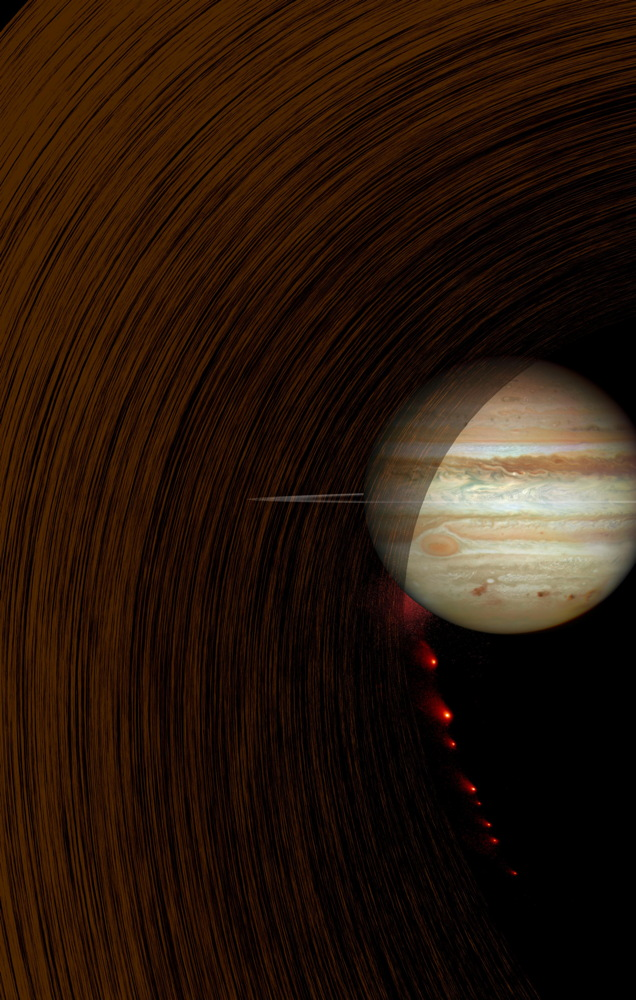 Comet Impact Into Jupiter (Artist's Concept)