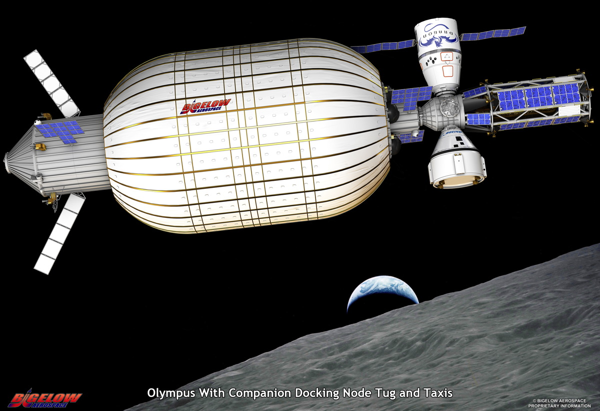 Bigelow Aerospace's Moon Bases