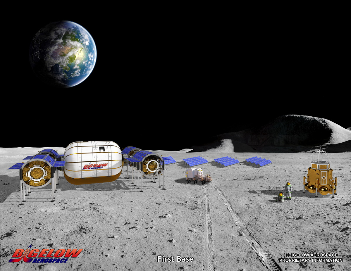 Bigelow Aerospace's Moon Bases