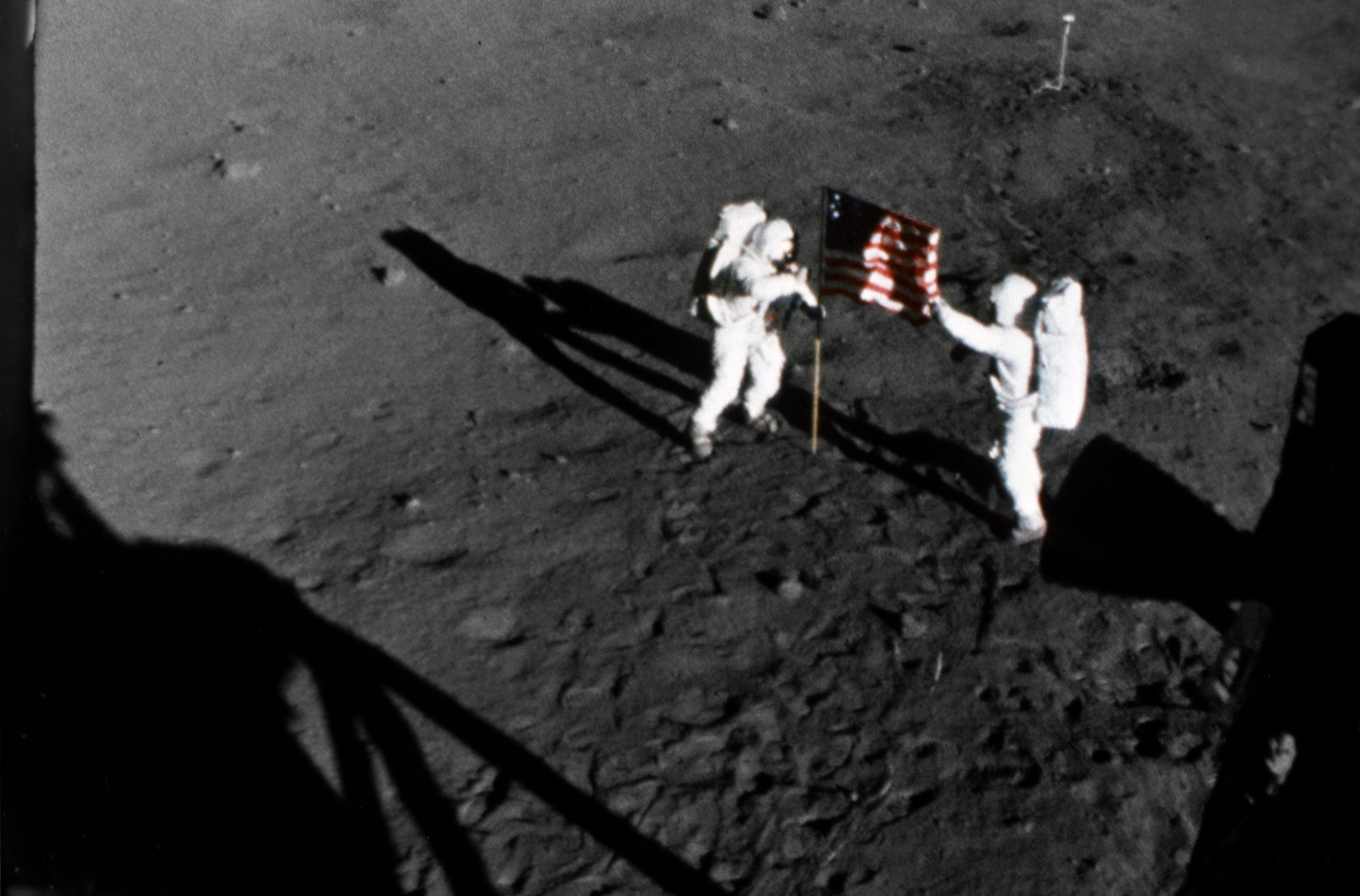 Placing the Flag on the Moon