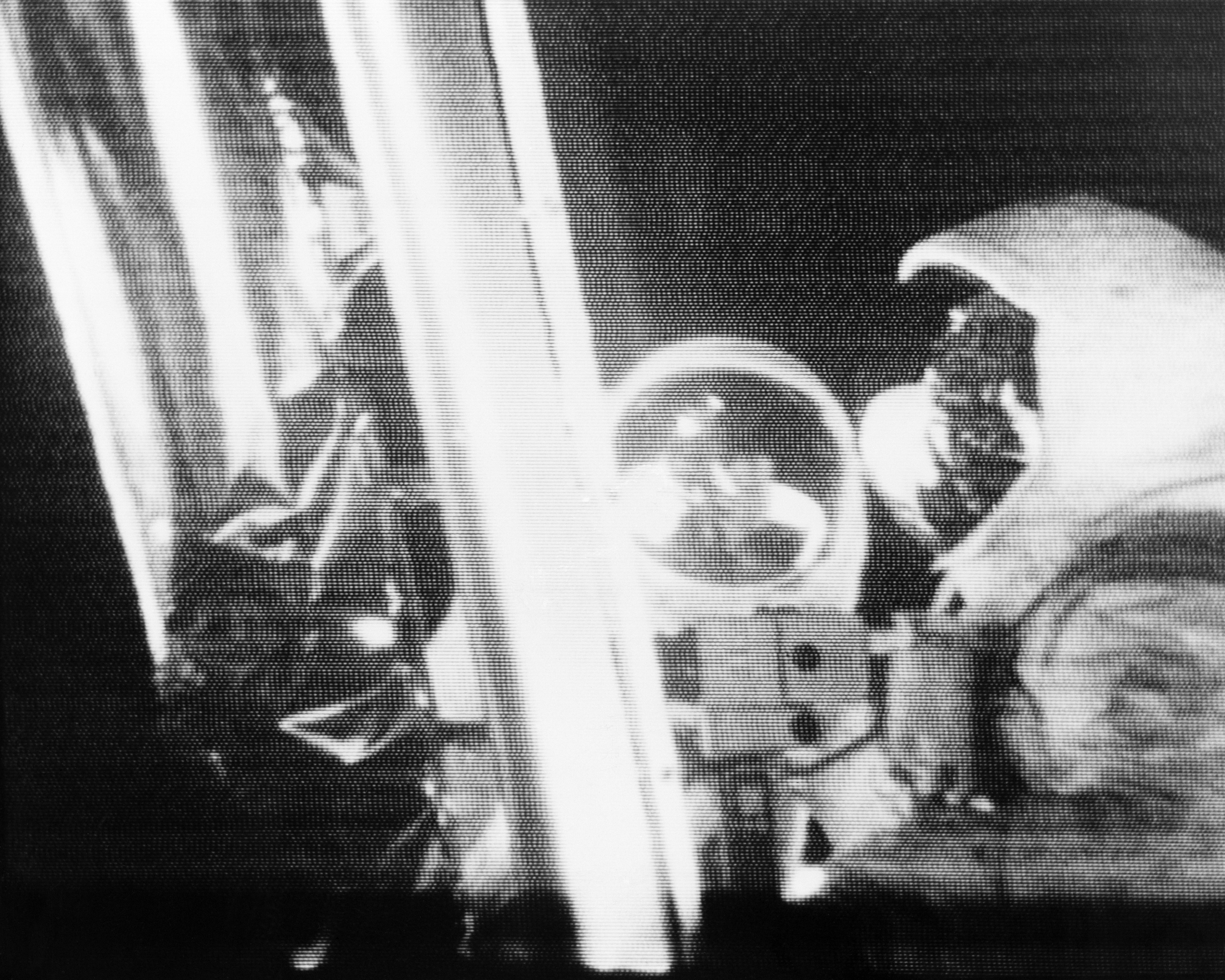 Armstrong and Aldrin in Lunar Module