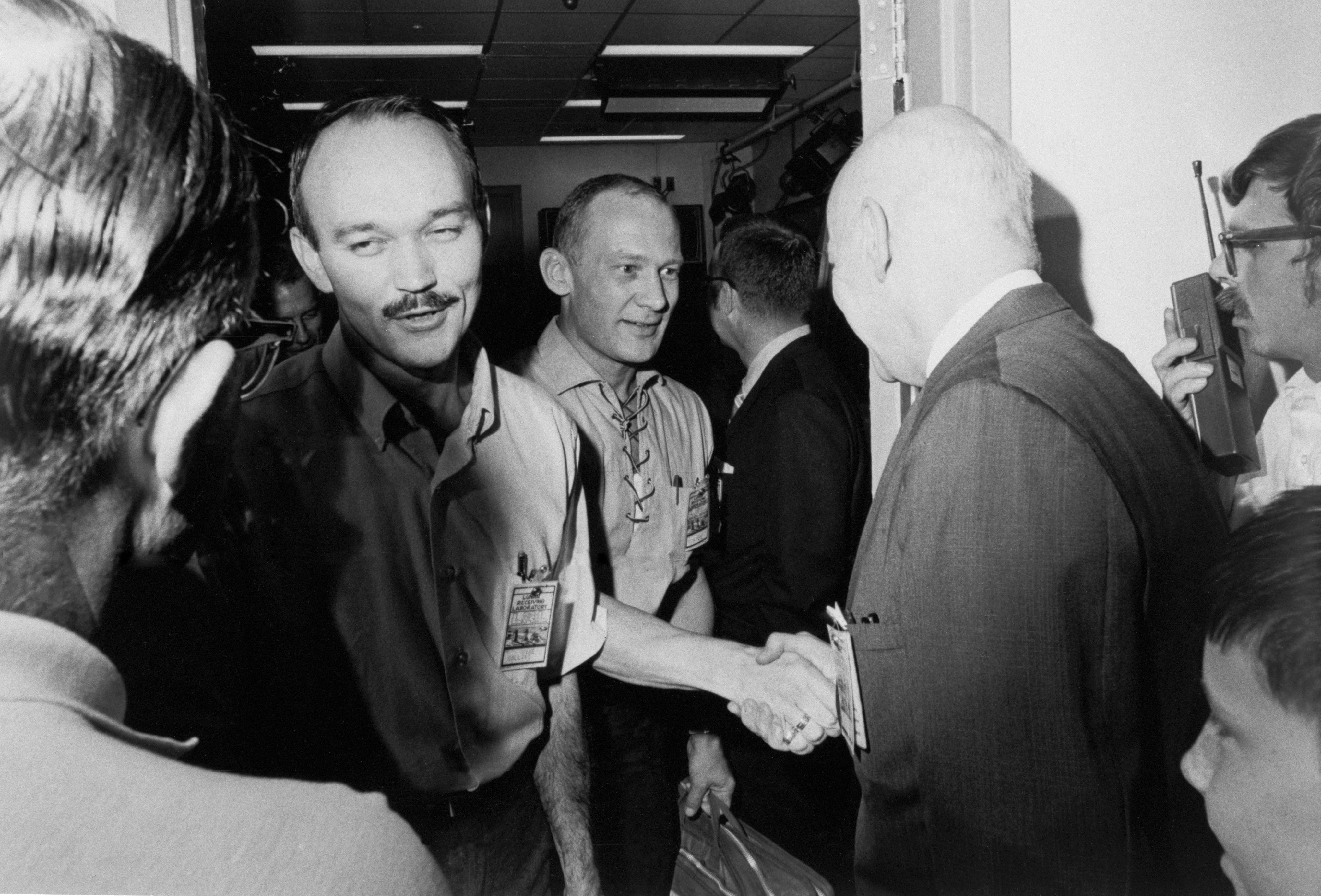 Apollo 11 Astronauts Greet Officials