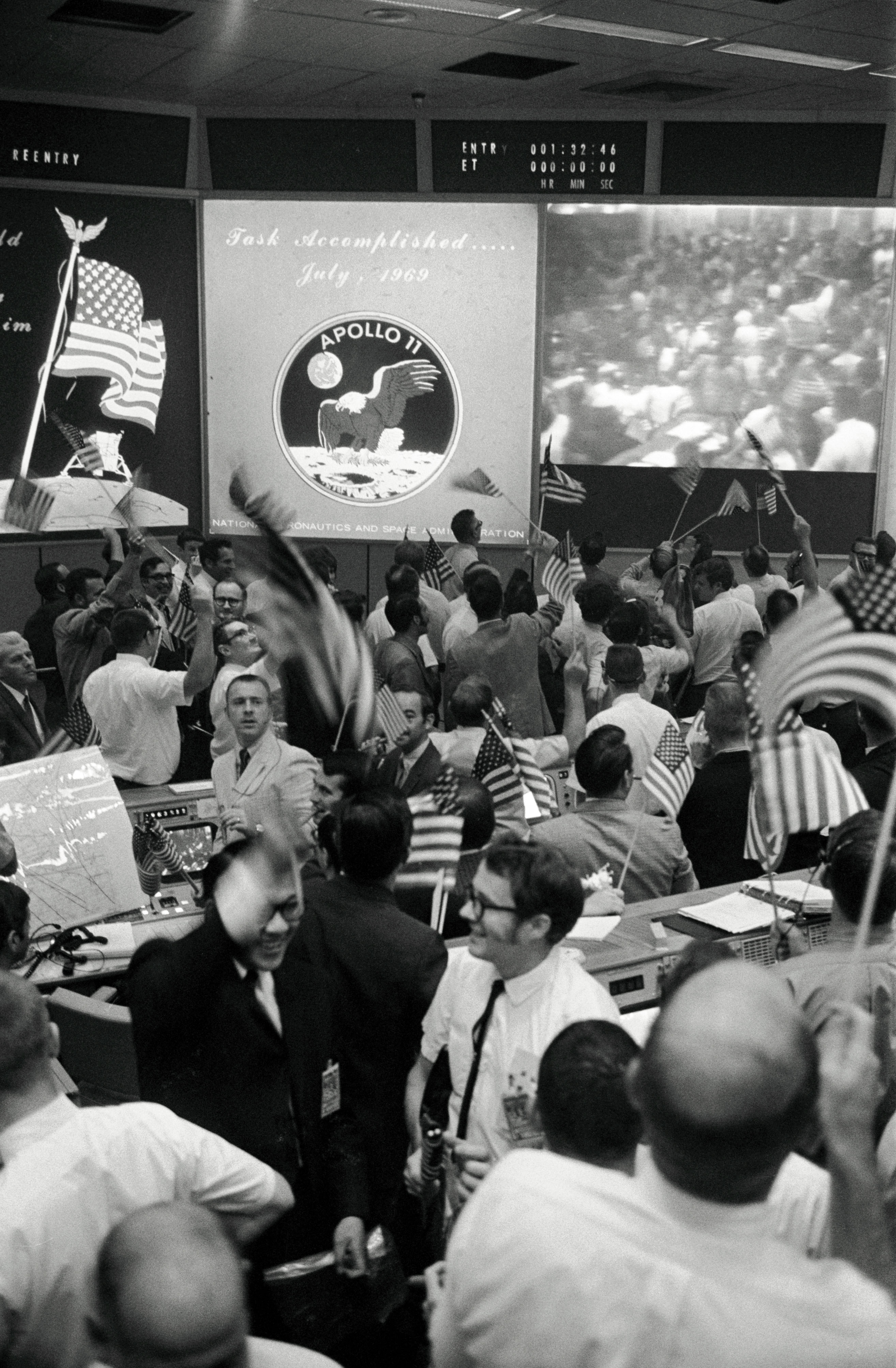 Apollo 11 Flight Controllers Celebrate